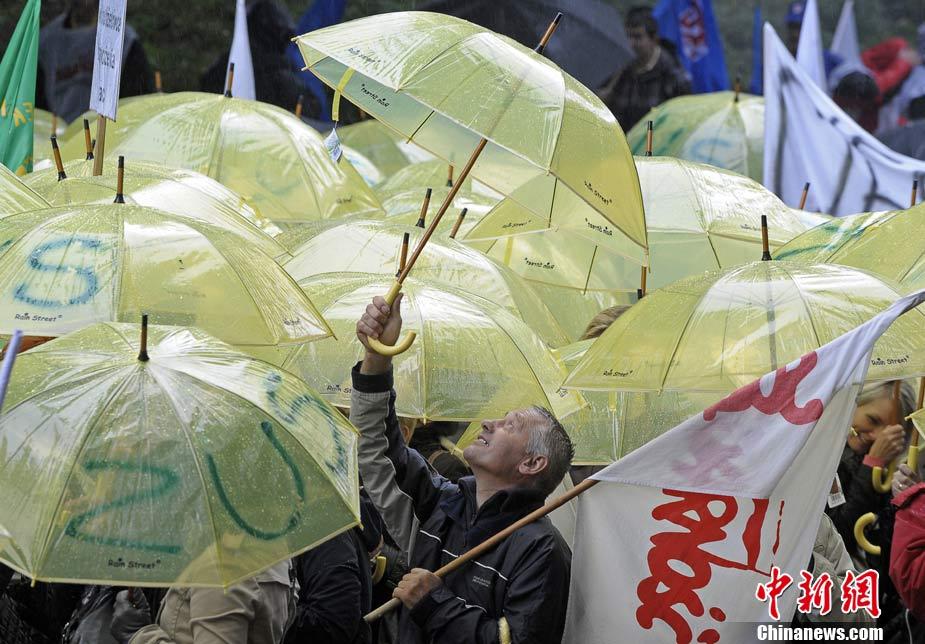 欧洲多国爆发大规模游行示威活动(组图)