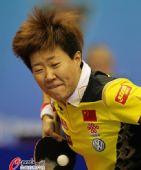 图文:乒乓球世界杯女团夺冠 郭焱表情特写