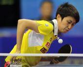 图文:乒乓球世界杯女团夺冠 郭跃杀气腾腾