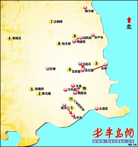资深驴友列青岛崂山11危险地段