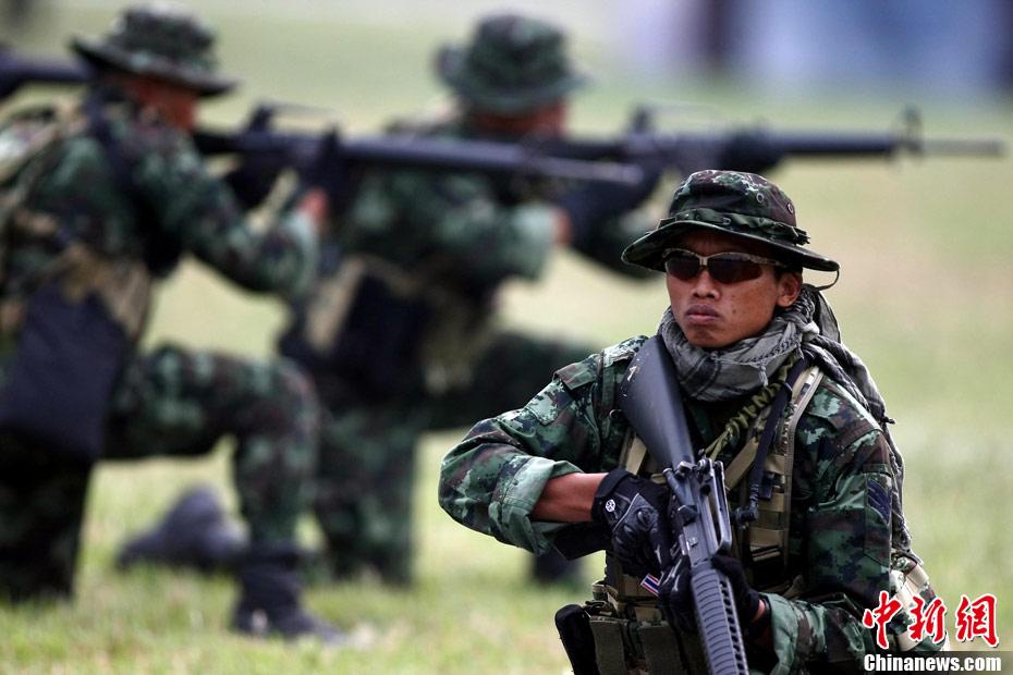 广西/高清:中泰特种部队反恐联训在广西举行(组图)