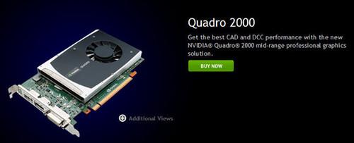 NVIDIA发布Quadro 2000和600专业显卡