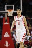 图文:[NBA]火箭迎战步行者 姚明憧憬