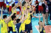 图文:巴西男排获世锦赛冠军 庆祝胜利