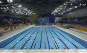 图文:广州亚运会比赛场馆巡礼 游泳跳水馆泳池