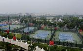 图文:广州亚运会比赛场馆巡礼 网球中心外场