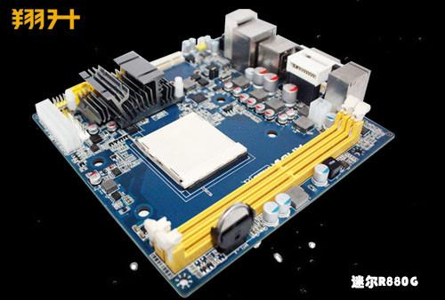 瞄准HTPC 全球首款带显存ITX 880G主板