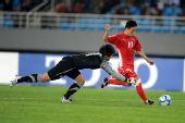 图文:[亚青赛]朝鲜2-0韩国 李赫哲射门