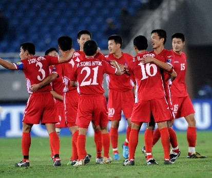 朝鲜庆祝胜利