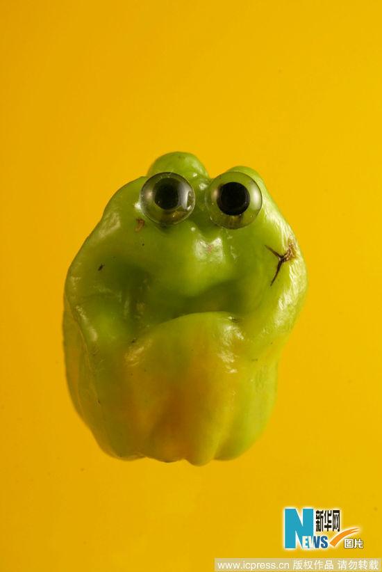 有创意 如果水果蔬菜有眼睛