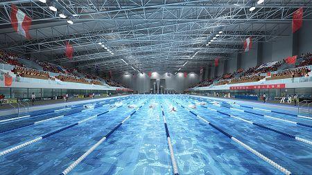 广东奥林匹克体育中心游泳跳水馆室内