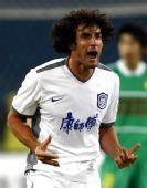 图文:[中超]北京1-1天津 卢西亚诺进球庆祝