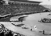 图文:第三届亚运会简介 日本代表团开幕式入场