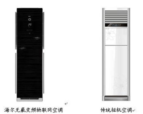 更新换代 海尔物联网pk传统空调柜机