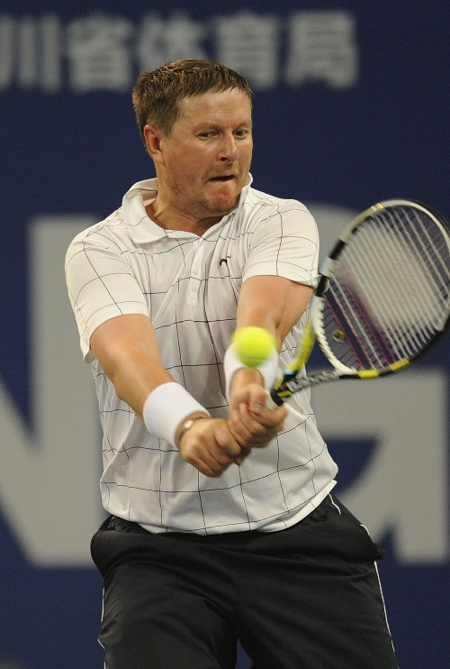 ATP冠军巡回赛成都站 卡费尔尼科夫回球