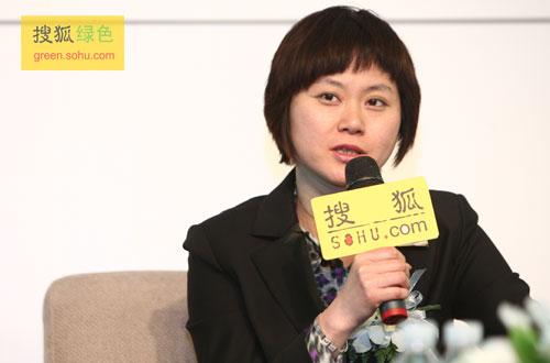 联想集团品牌沟通部高级总监陈丹青女士(搜狐-唐怡民/摄)