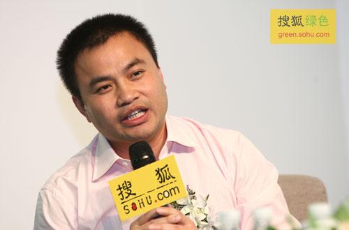太阳雨太阳能集团总经理陈荣华先生(搜狐-唐怡民/摄)