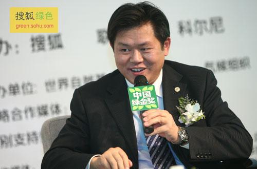北京环境交易所总经理梅德文先生(搜狐-唐怡民/摄)