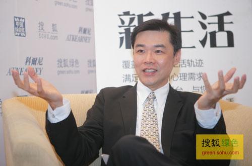 搜狐绿色专访宝洁大中华区对外事务总经理许有杰。(搜狐-刘丹/摄)