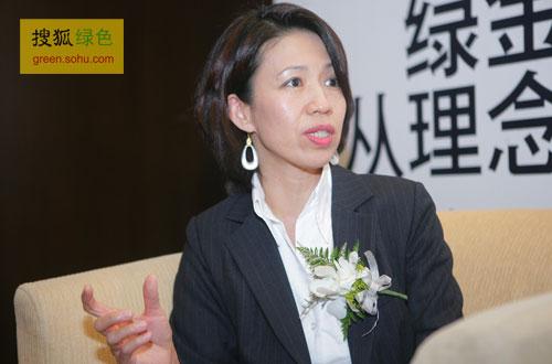 搜狐绿色专访科尔尼咨询公司合伙人黄荻女士。(搜狐-刘丹/摄)