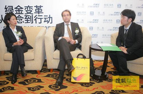 搜狐绿色专访科尔尼咨询公司大中华区总裁班德。(搜狐-刘丹/摄)