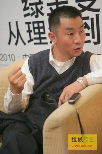 搜狐绿色专访青岛啤酒生产管理总部部长卢绪军。(搜狐-刘丹/摄)
