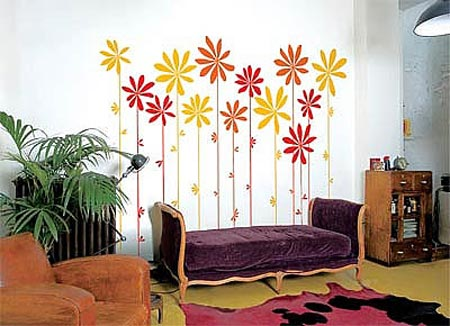 【图】家居潮流趣味手绘墙作品
