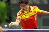 图文:乒乓球男子世界杯 张继科在比赛中