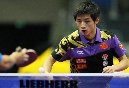 ,2010男子乒乓球世界杯进入到了最后一日的争夺.最终,王皓在先