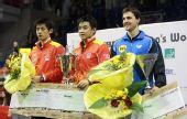 图文:乒乓球男子世界杯 在领奖台上合影