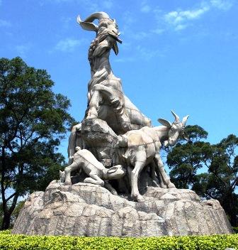 广州城市标志 五羊雕塑