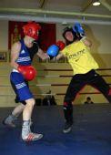 图文:蒙古拳击运动员备战亚运 塞尔丹巴在训练