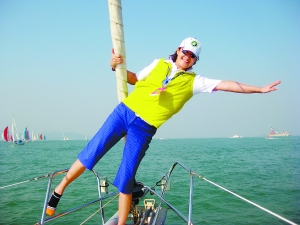 中国杯帆船赛原女篮队长爱自拍 宋晓波:真来电