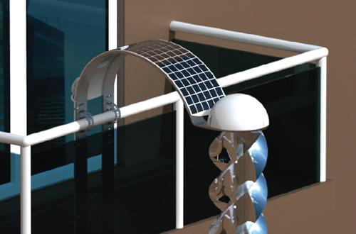 迷你发电机装在阳台 能利用太阳能和风力(图)