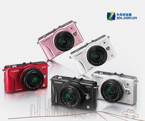 图为:松下GF2可换镜头数码相机