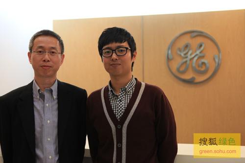 李国威先生接受搜狐网专访,并与绿色频道主编史少晨合影