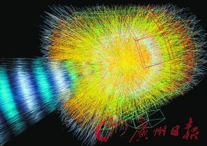 """迷你""""宇宙大爆炸""""是通过令铅离子高速撞击产生的,撞击产生的温度是太阳核心温度的100万倍。"""