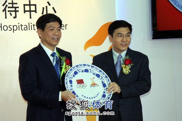 """图文:亚运会""""中国之家""""揭牌 亚运奥运"""