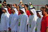 图文:阿联酋代表团举行升旗仪式 仪式开始