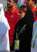 图文:阿联酋代表团举行升旗仪式 女运动员