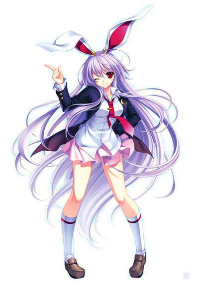 日本动漫中可爱的兔耳女郎集锦头像晗美图字鹿女生头像带的qq图片图片