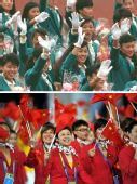 图文:影像链接亚运北京到广州 回忆运动员入场