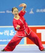 图文:女子南拳南刀全能比赛 冠军林凡霸气十足