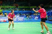 图文:羽球女团泰国战胜日本 兴奋庆祝胜利