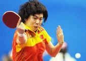 图文:乒球女团第三轮中国胜日本 李晓霞反手