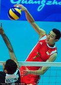 图文:亚运会男排比赛 中国男排3-1巴基斯坦(15)