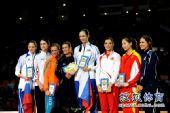 图文:女排世锦赛颁奖仪式 各项最佳合影