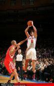 图文:[NBA]火箭战尼克斯 巴蒂尔防守