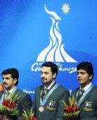 图文:斯诺克男团颁奖仪式进行 巴基斯坦获铜牌