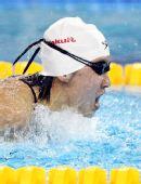 图文:女子200米蝶泳焦刘洋夺冠 出水瞬间特写